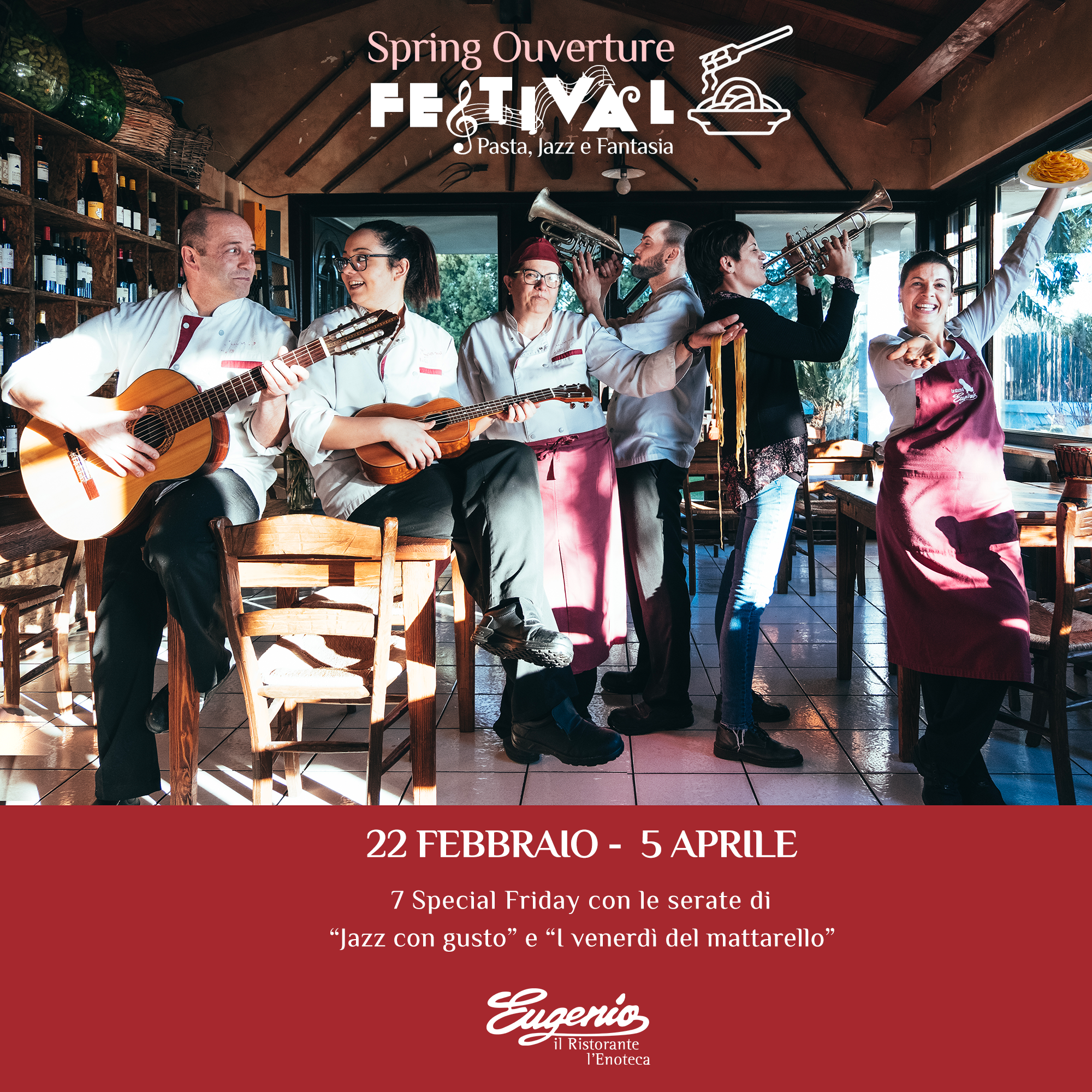 Spring Ouverture Festival Pasta, Jazz a Fantasia